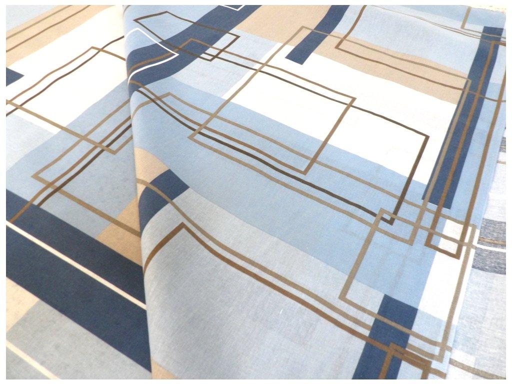 DOMESTIK 145/144881-1 geometrie čtverce 220cm / VELKOOBCHOD