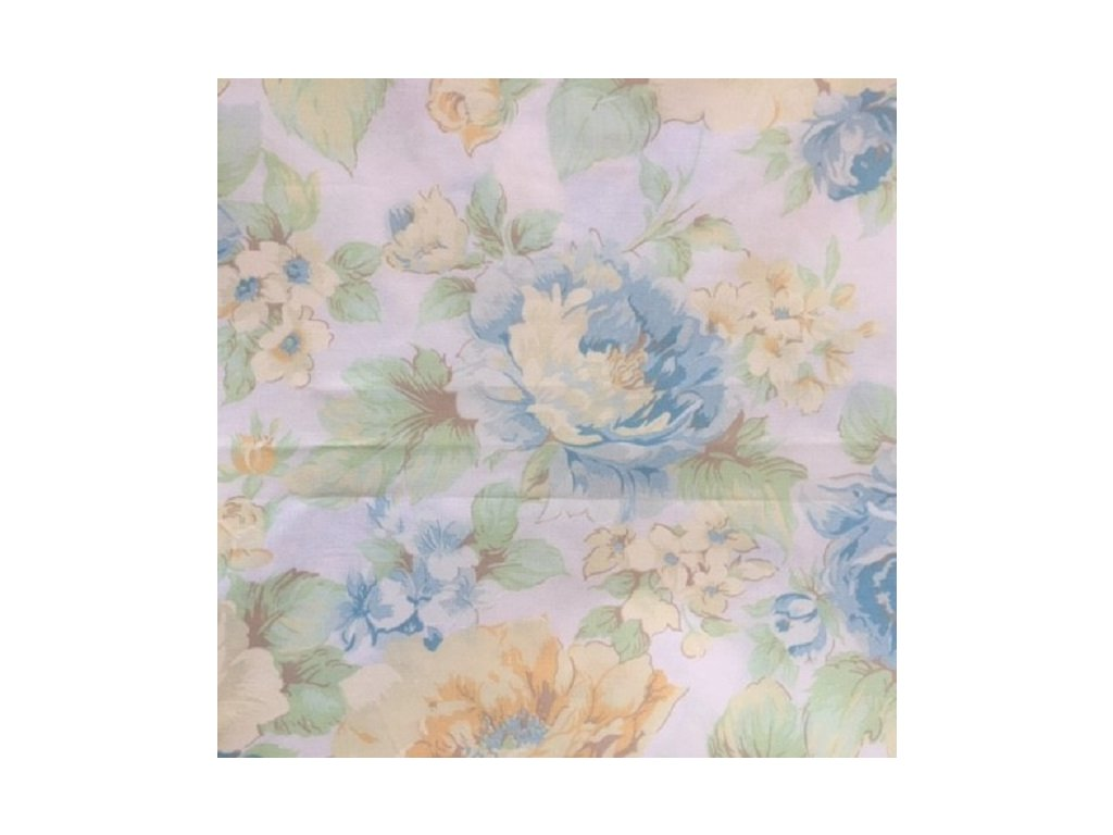 DOMESTIK 145/9100-2 modrý květ 220cm (množství od od 4 metrů na míru (SLEVA 14% pří odvíjení nad 15m))