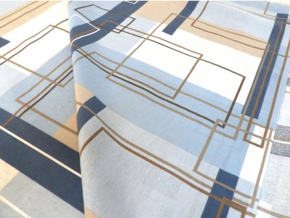 DOMESTIK 145/14488-1 geometrie čtverce 220cm / METRÁŽ NA MÍRU
