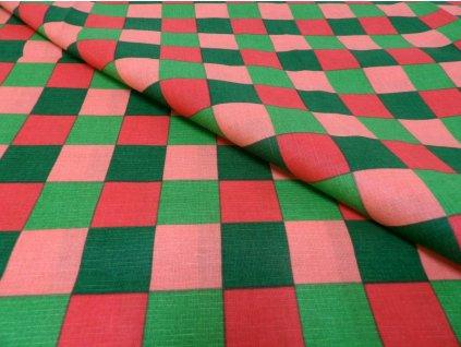 HABINA 145 (92384-45 Velké kostky barevné 4cm)-142cm / METRÁŽ NA MÍRU