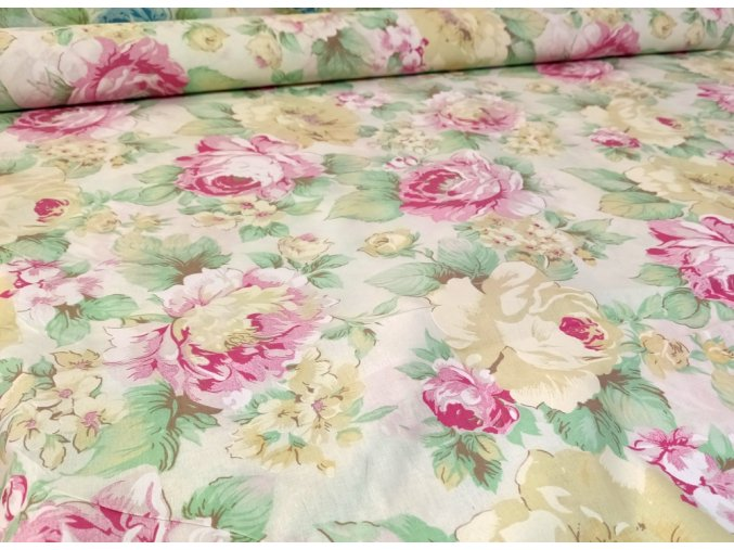 DOMESTIK 145/9100-1 růžový květ 220cm