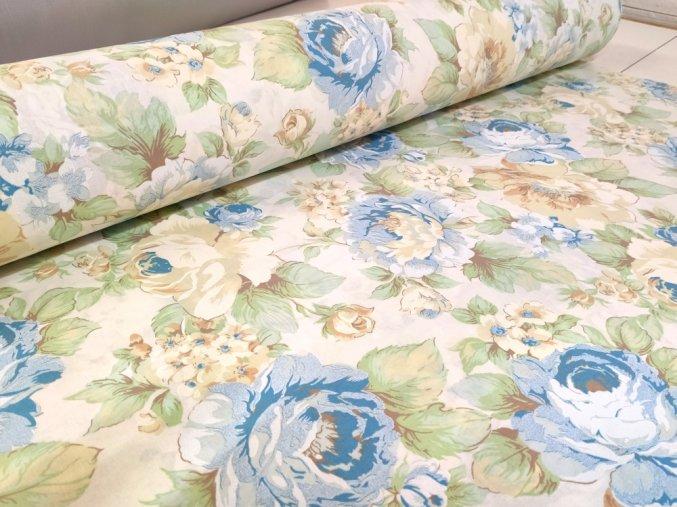 DOMESTIK 145/9100-2 modrý květ 220cm