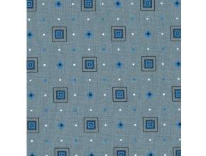 HETRA 115 (Trenkovina 212002 Šedo-modrá kostka)-150cm (množství od od 4 metrů na míru (SLEVA 14% pří odvíjení nad 15m))
