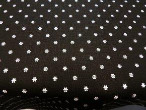 HERA 120 (214058-1-4 Květy černé, Ranforce)-142cm
