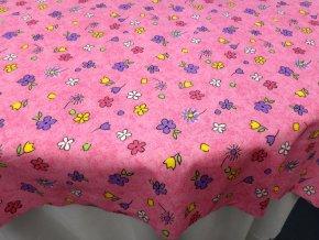 HERA 120 (211890-8-3 Květy barevné-růžové)-145cm