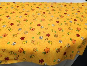 HERA 120 (211890-8-4 Květy barevné-oranžové)-145cm