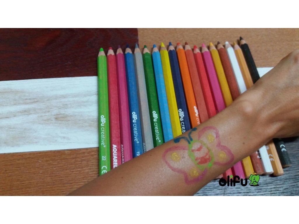 Aqua Crayon aquarelové pastelky 18 ks, Ø 1cm