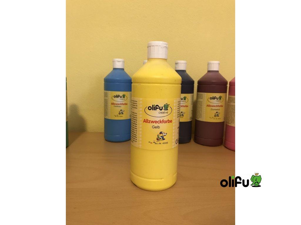 Barva multifunkční 1000 ml - žlutá