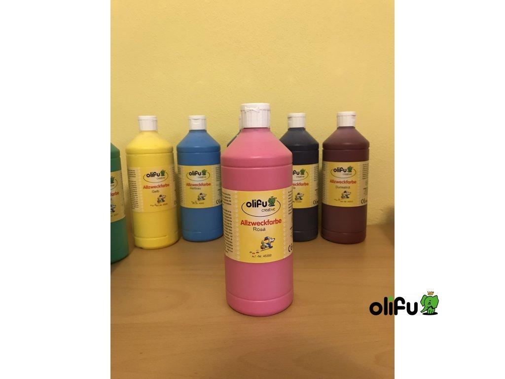 Barva multifunkční 1000 ml - růžová
