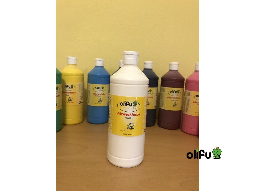 Barva multifunkční 1000 ml - bílá