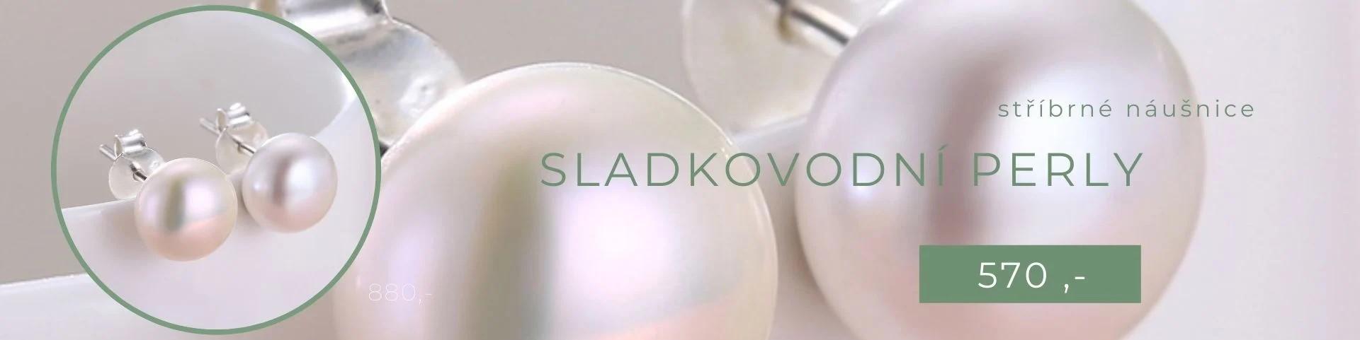 Stříbrné náušnice 8mm SLADKOVODNÍ PERLY