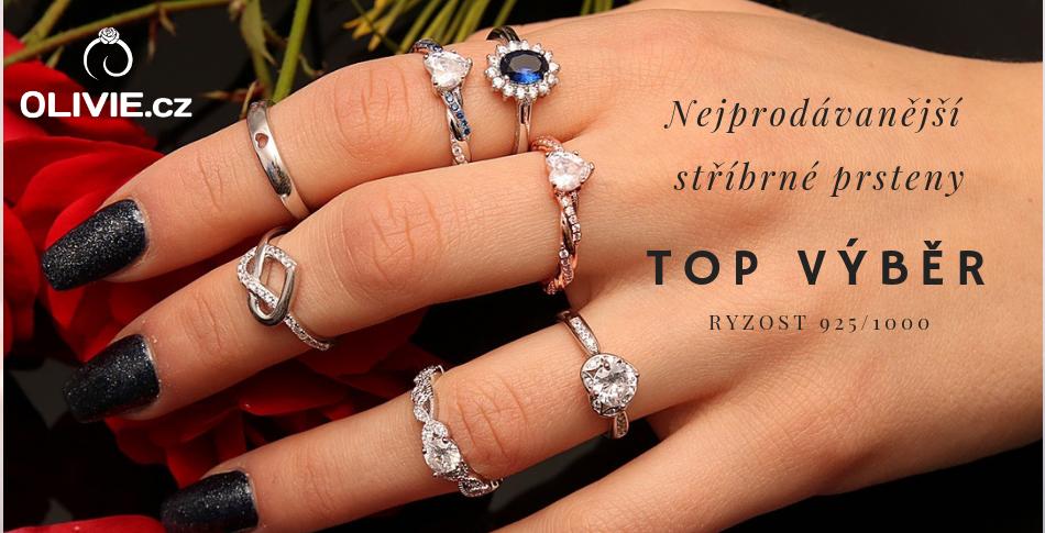 Stříbrné prsteny TOP VÝBĚR