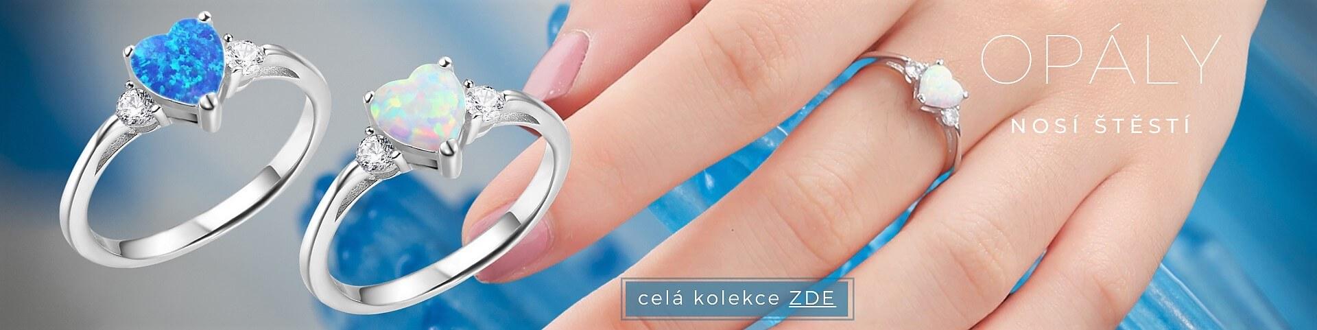 Opálové prsteny se srdíčkem 5292, 5291