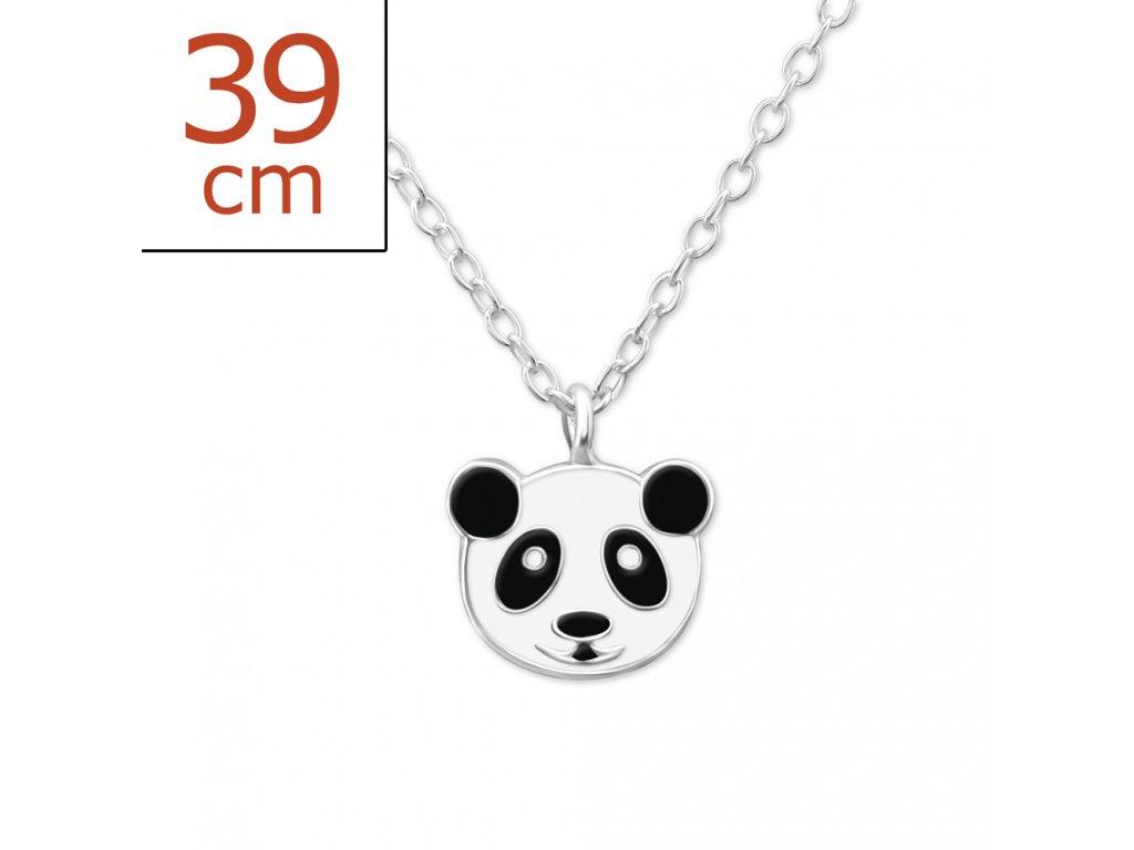dětský stříbrný řetízek panda