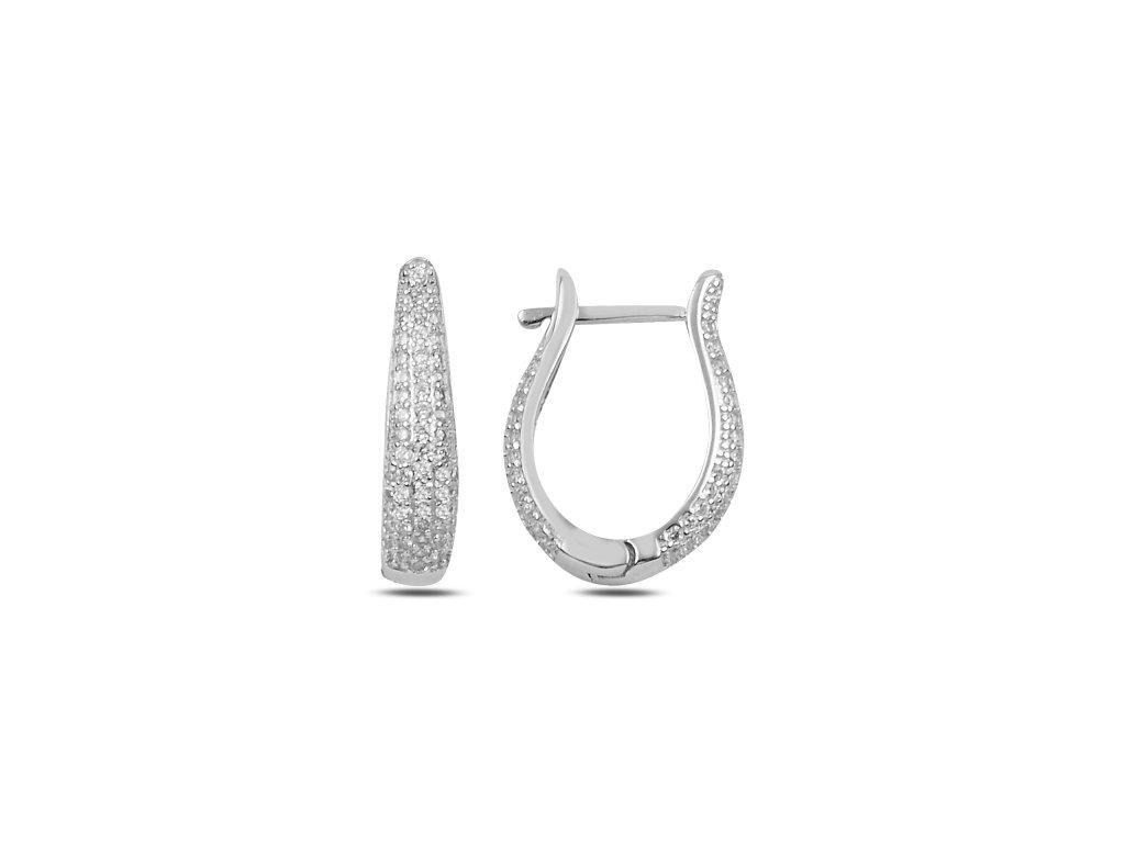 Luxusní stříbrné náušnice se zirkony. Krásný dárek pro ženu, maminku, babičku, šéfovou. K vánocům nebo narozeninám.