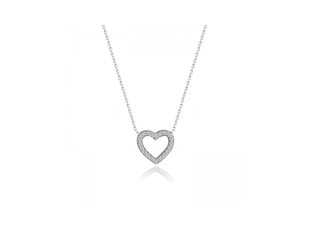 Stříbrný náhrdelník SRDÍČKO SWAROVSKI
