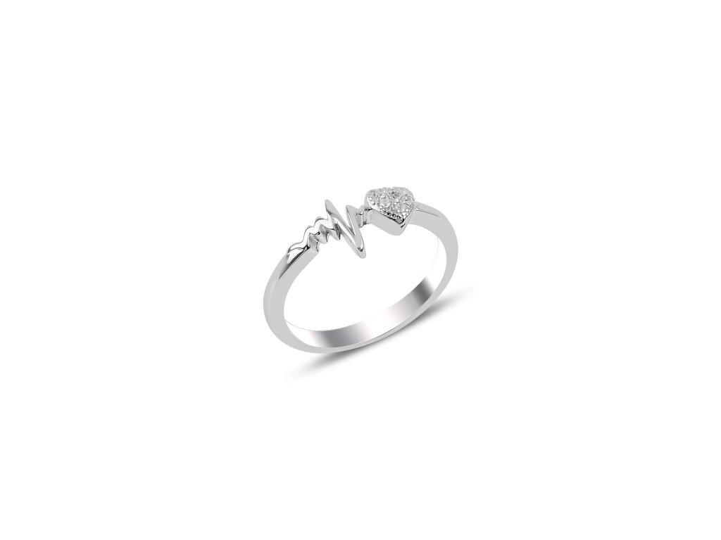Stříbrný prsten TLUKOT SRDCE