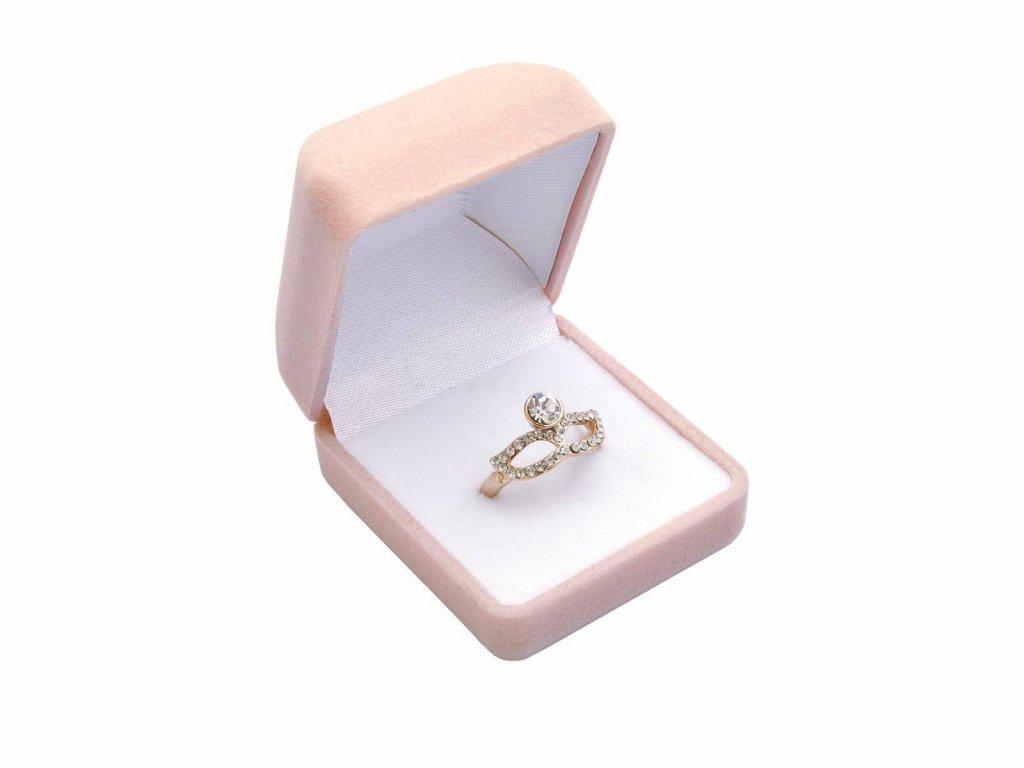 Sametová dárková krabička na prsten, náušnice