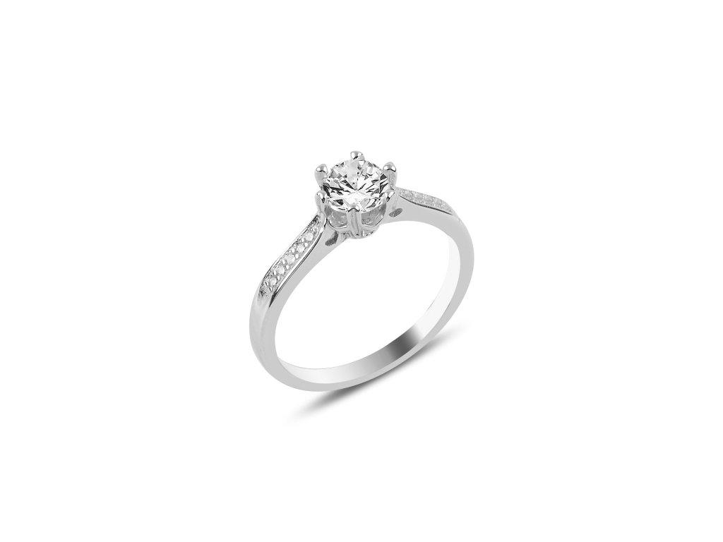Stříbrný zásnubní prsten, prstýnek jako pro princeznu.
