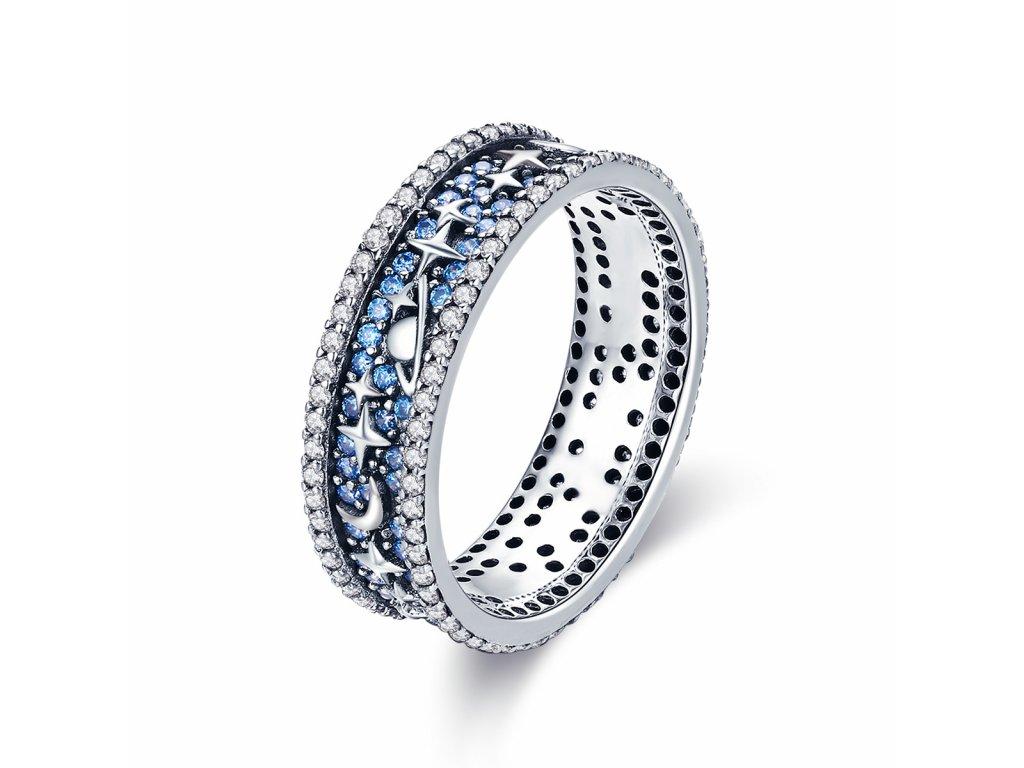 Stříbrný prsten HVĚZDNÁ OBLOHA