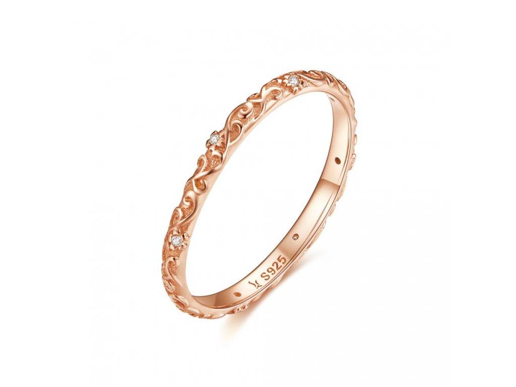 Stříbrný prsten VINTAGE ROSE