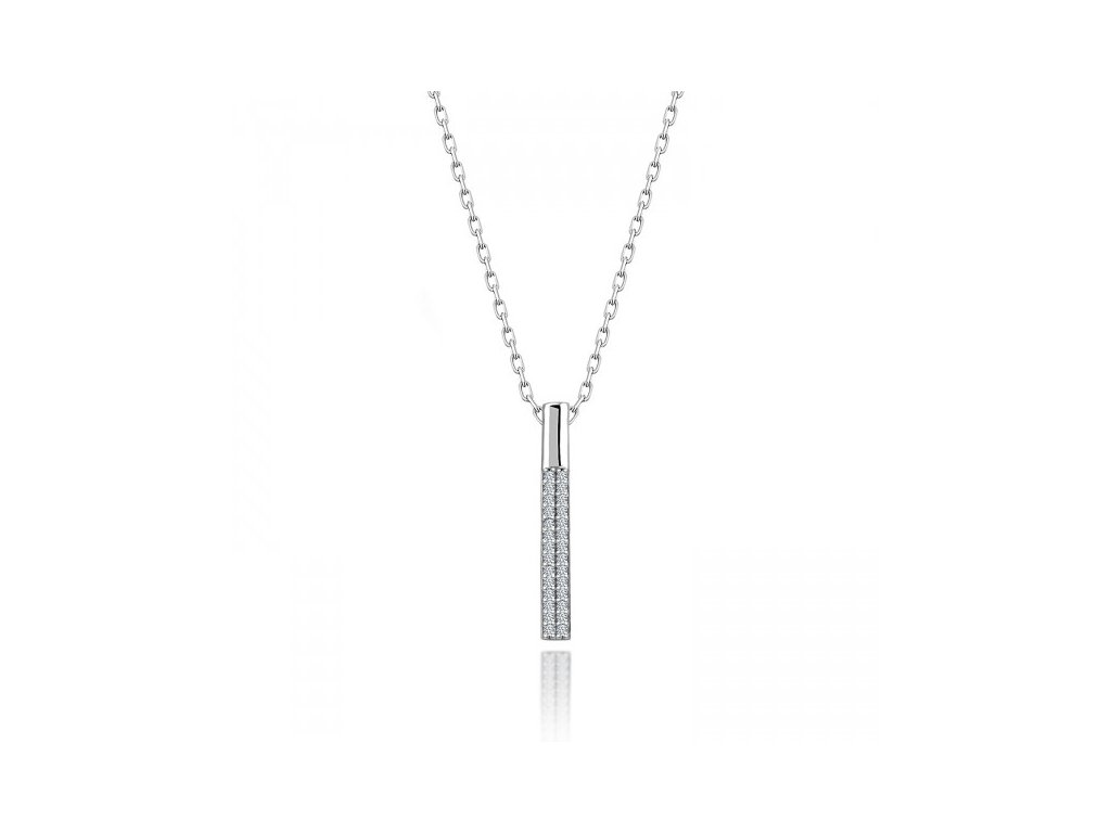 Stříbrný náhrdelník se Swarovski zirkony