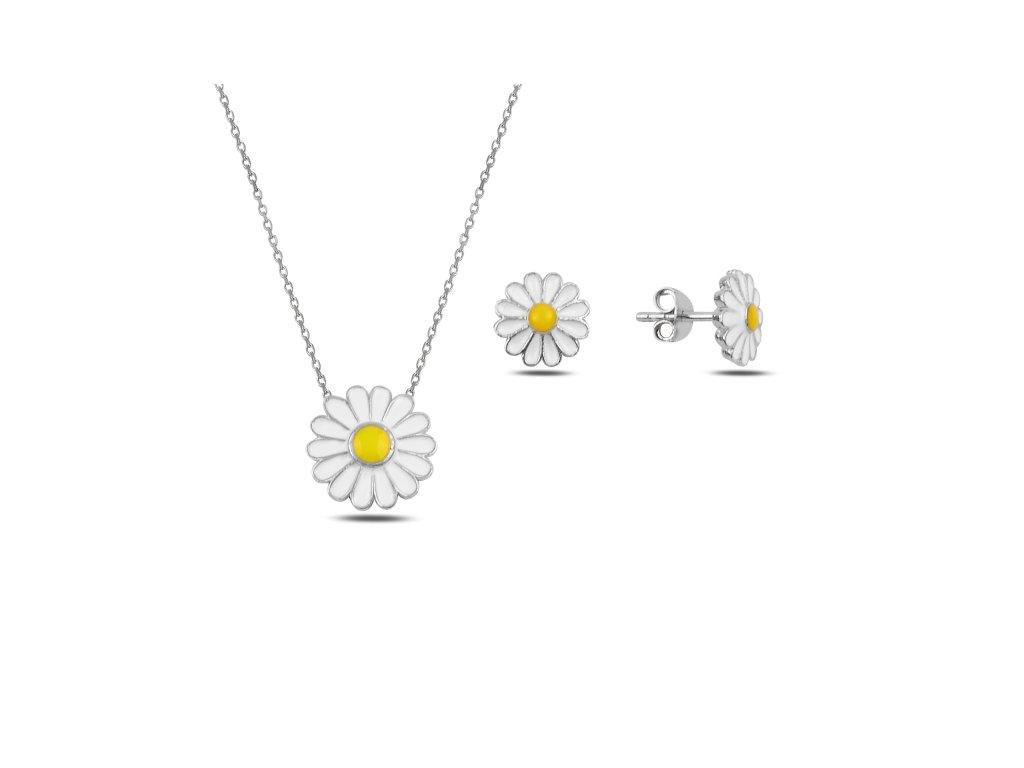 Sada stříbrných šperků SEDMIKRÁSKA