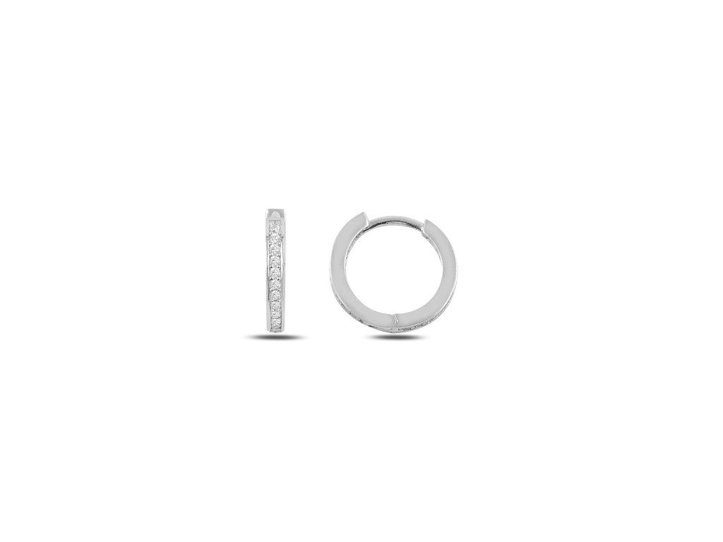 Stříbrné luxusní náušnice zirkonové kroužky od OLIVIE