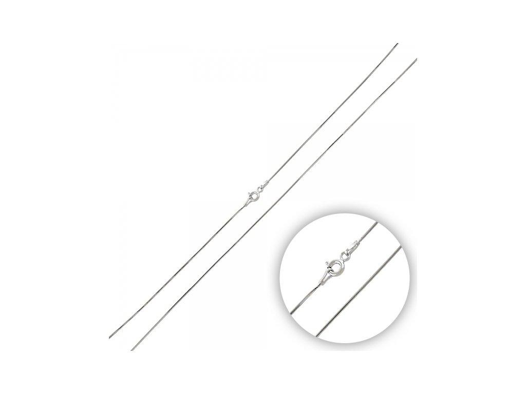 Stříbrný rhodiovaný řetízek HAD 45 cm SNAKE