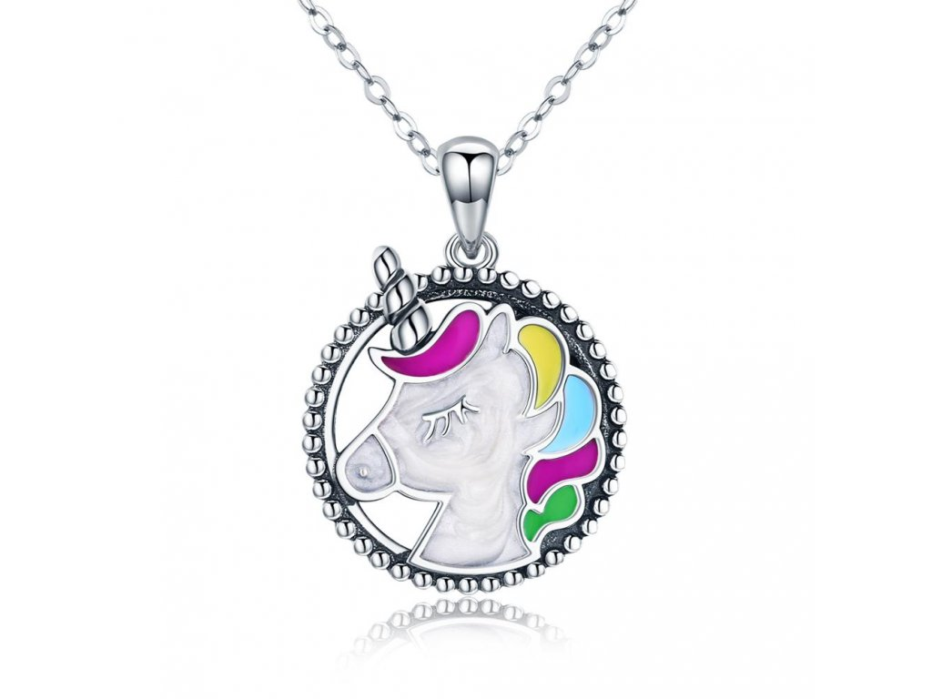 Stříbrný náhrdelník JEDNOROŽEC
