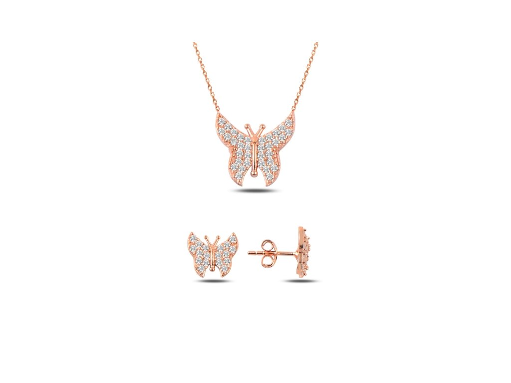 Sada stříbrných šperků ROSE MOTÝL