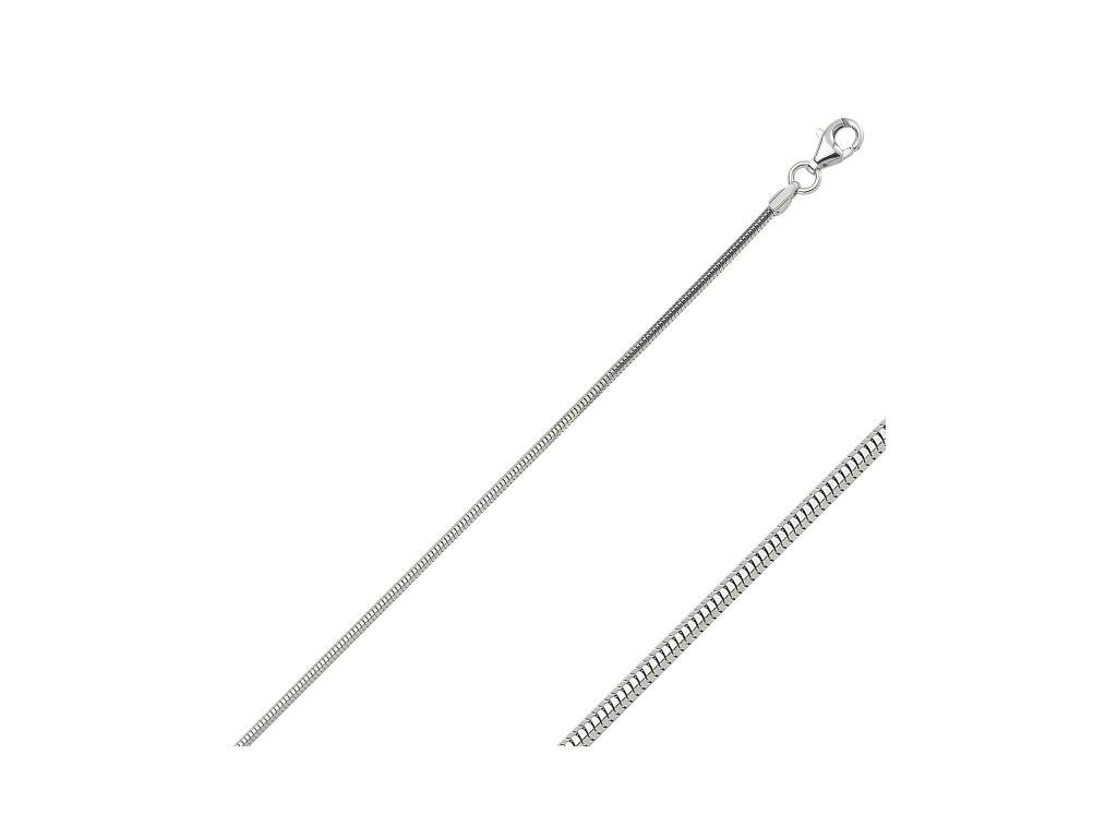 Stříbrný náhrdelník SNAKE 50 cm
