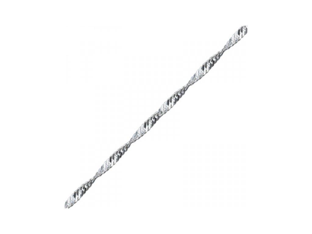 Stříbrný řetízek 60 cm TWIST