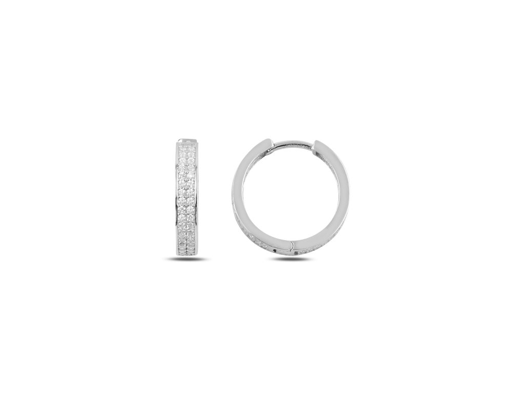Stříbrné kruhy 2 cm