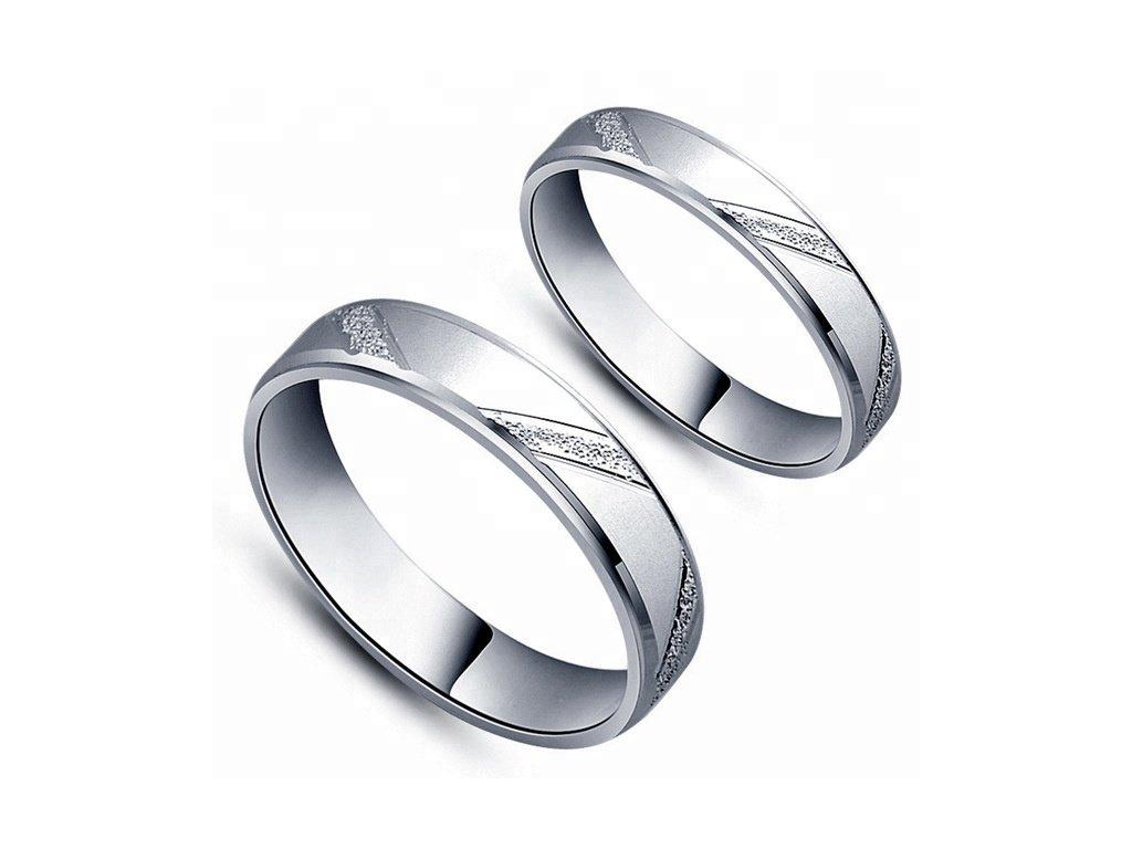 Snubní prsten ze stříbra SVATEBNÍ PRSTÝNKY