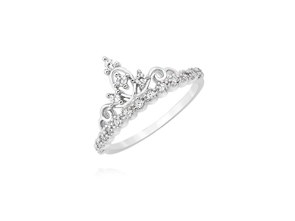 Stříbrný prstýnek pro princeznu KORUNKA