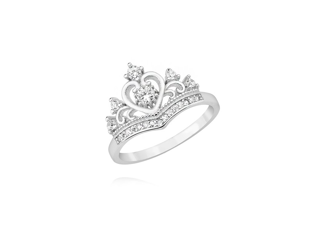 Stříbrný prstýnek KORUNKA