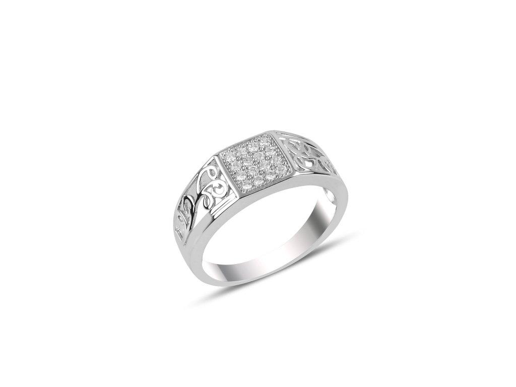 Pánský stříbrný prsten