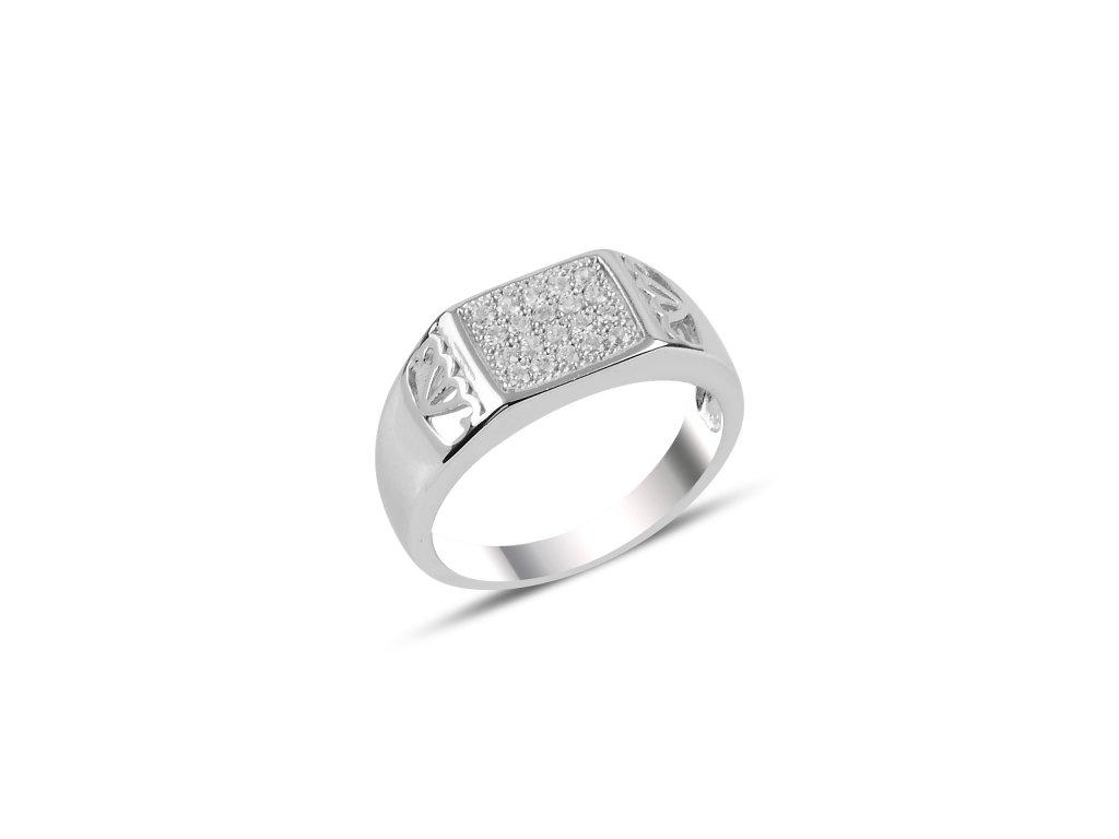 Pánský stříbrný prsten pro muže