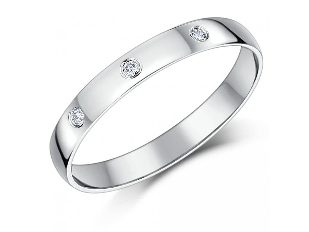 Snubní stříbrný prsten pro muže i ženu