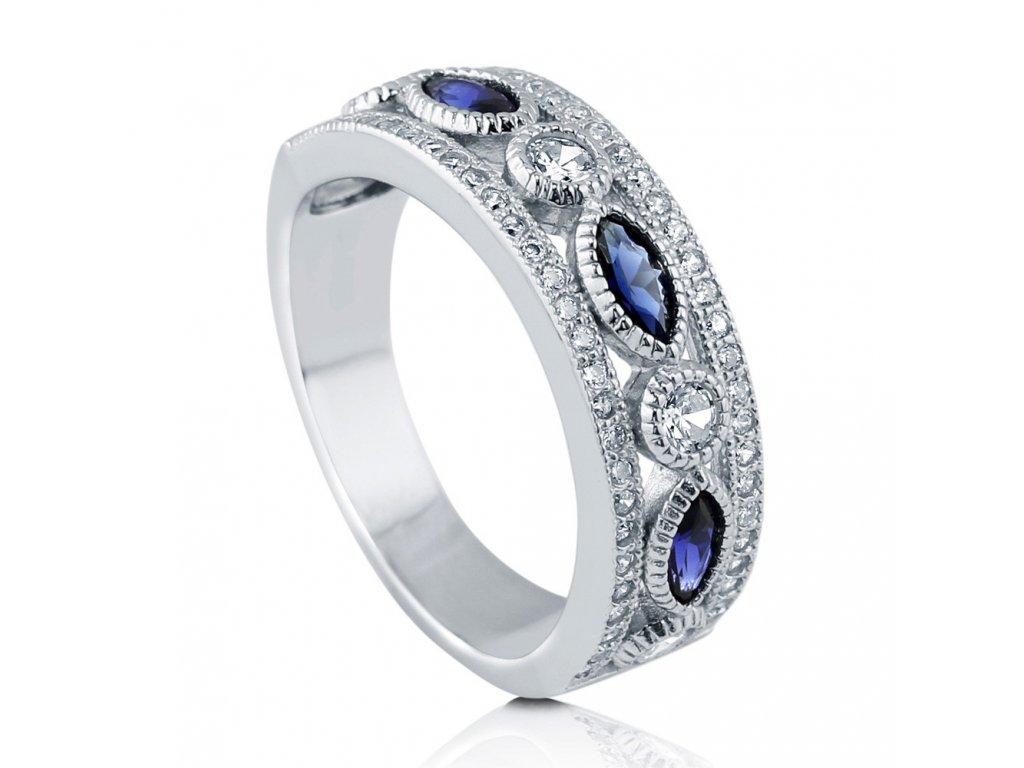 Stříbrný prsten MODRÉ TAJEMSTVÍ