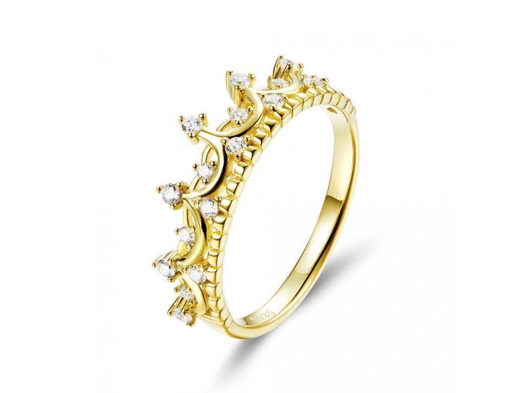 Stříbrný prsten ZLATÁ KORUNKA od OLIVIE