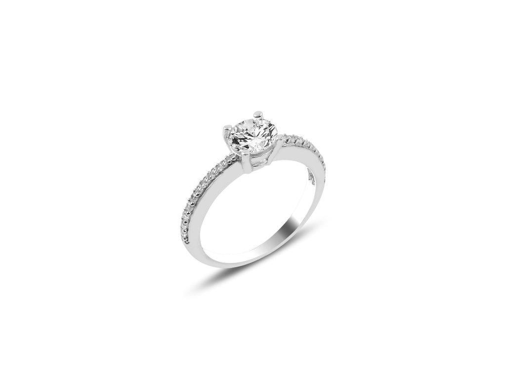 Stříbrný zásnubní prstýnek se zirkonem, prstýnek z lásky.