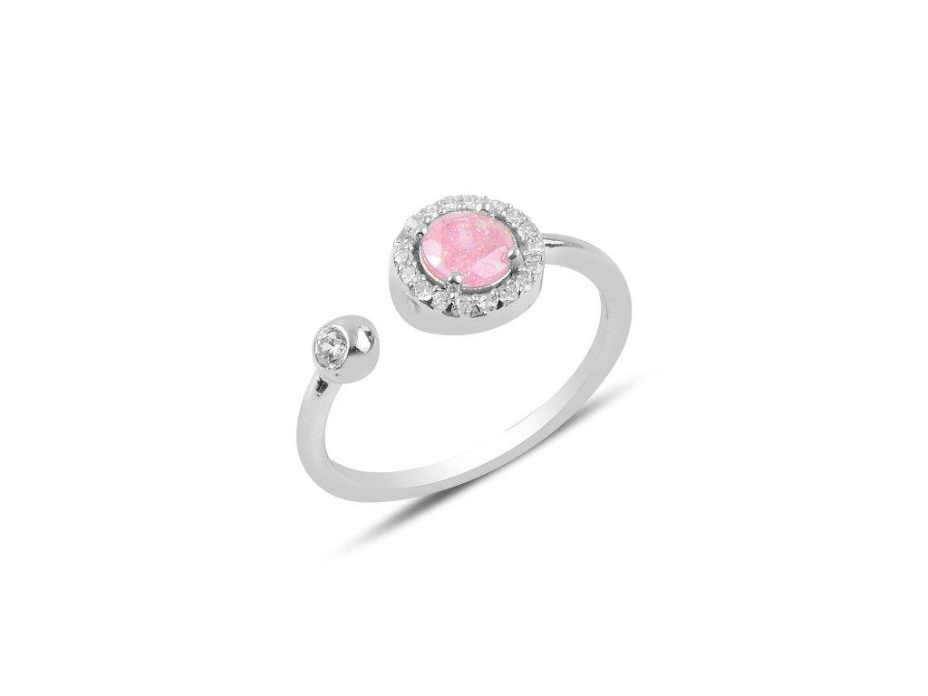 Stříbrný prsten SLADKÁ LÁSKA, nastavitelná velikost