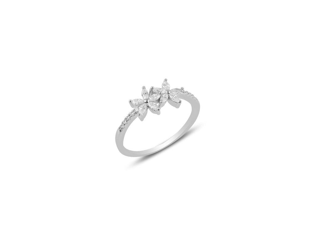 Stříbrný prsten LETNÍ KVÍTÍ od OLIVIE