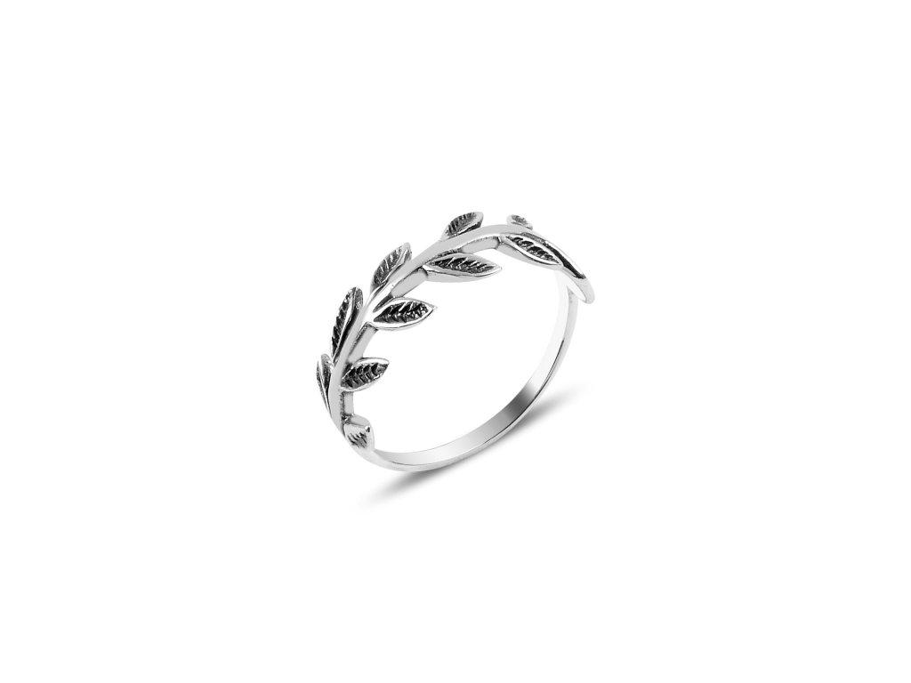 Stříbrný prstýnek LÍSTKY Z RŮŽÍ