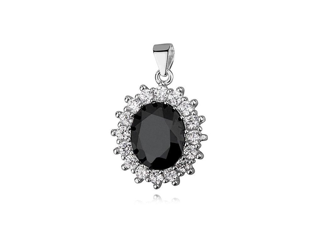 Stříbrný přívěsek BLACK ZIRCONIA od OLIVIE