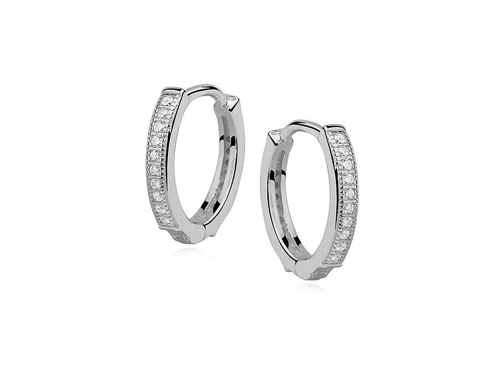Stříbrné zirkonové kroužky