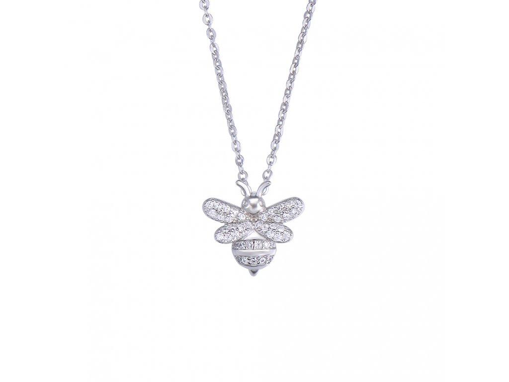Stříbrný náhrdelník VČELKA od OLIVIE, krásný dárek pro manželku, přítelkyni