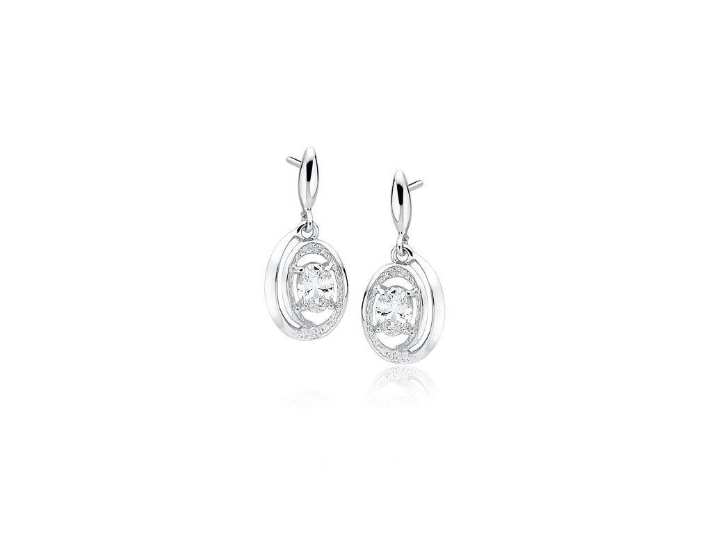 Nádherné luxusní stříbrné náušnice HAYLEY vhodné jako krásný dárek pro manželku, šéfovou, přítelkyni.